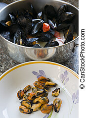 neapolitan peppered mussels - Neapolitan peppered mussels...