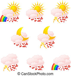 Love weather icons