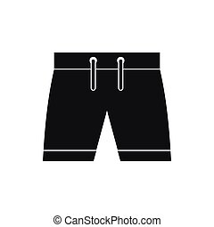 Mens shorts icon, simple style