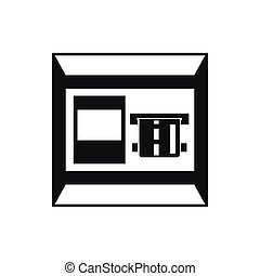 ATM icon, simple style - ATM icon in simple style isolated...