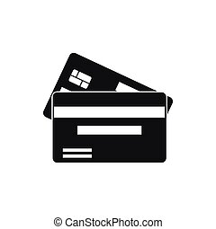 Credit card icon, simple style - Credit card icon in simple...