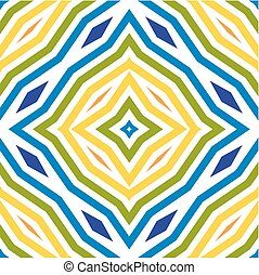 Colored line art pattern. Seamless background