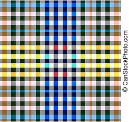 Colorful checkered seamless background. Gingham pattern