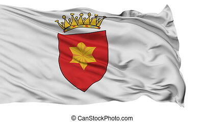Tavolara Micronation Isolated Waving Flag - Tavolara...
