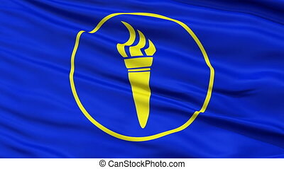 Minerva Micronation Close Up Waving Flag - Minerva...