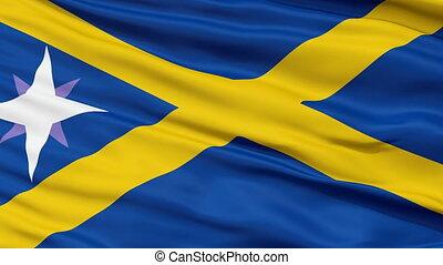 Forcas and Careiras Micronation Close Up Waving Flag -...