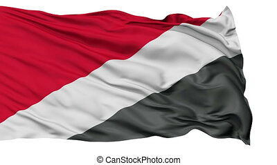 Sealand Micronation Isolated Waving Flag - Sealand...