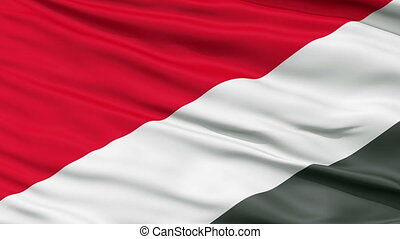 Sealand Micronation Close Up Waving Flag - Sealand...