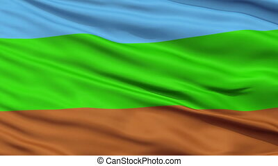 Kingdom of Redonda Micronation Close Up Waving Flag -...