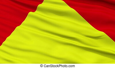 Principality of Trinidad Micronation Close Up Waving Flag -...