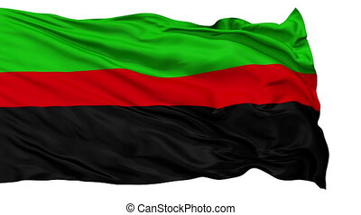 Republic of New Afrika Micronation Isolated Waving Flag