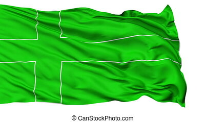 Ladonia with Contours Micronation Isolated Waving Flag -...