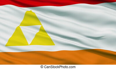 Mount Henadas Micronation Close Up Waving Flag - Mount...