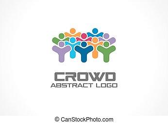 ventilador, companhia, rede, torcida, negócio, coloridos,...