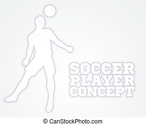 Header Soccer Football Player Silhouette - A soccer football...