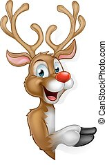 Cartoon Christmas Santas Reindeer - Cartoon Christmas Santas...