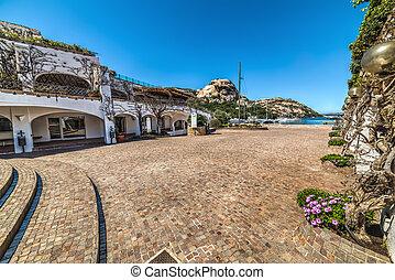 small square in Poltu Quatu, Sardinia
