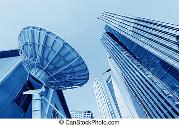 Skyscrapers in Shanghai, China - picture of parabolic...