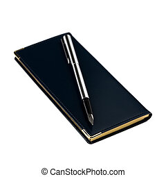 Organizer and fountain pen - Agenda Scheduling Organizer and...