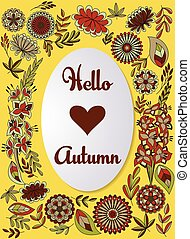 Hello autumn background colorful - Vector hello autumn...