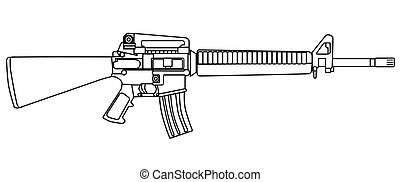 Typical Army Rifle - A typical army style assault weapon...