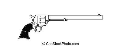 Wyatt Earpl Six Gun - The Wyatt Earp Buntline Special long...