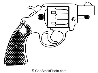 Snub Nose 45 Hand Gun - A snub nose handgun as used by...