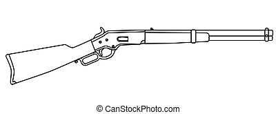 Traditional Wild West Rifle - A typical wild west rifle...