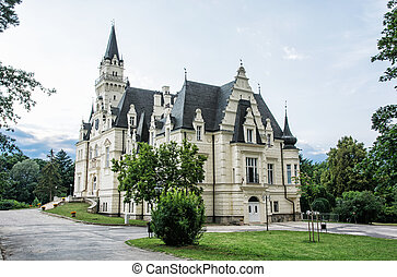 Beautiful Budmerice castle in Slovak republic, cultural...