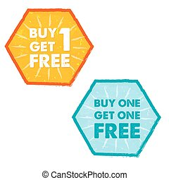 buy one get one free, vector - buy one get one free - text...