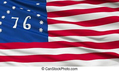 Bennington USA Close Up Waving Flag