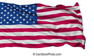 USA Isolated Waving Flag