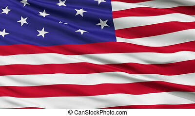 Star Spangled USA Close Up Waving Flag - Star Spangled...