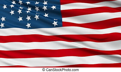 Fort Sumter USA Close Up Waving Flag