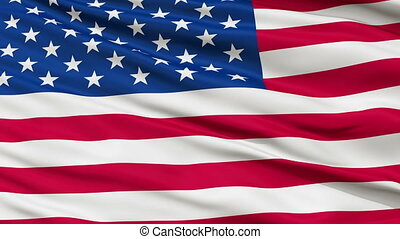 USA Close Up Waving Flag - United States of America Flag,...