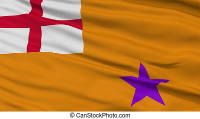 Orange Order Religious Close Up Waving Flag - Orange Order...