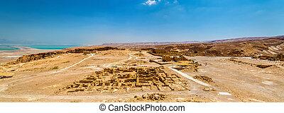 Panorama of the Masada fortress - Judaean Desert, Israel