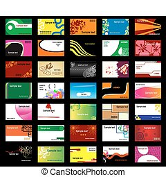 Various business cards - Set of various business cards for...