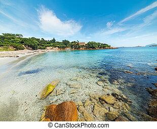 small beach in Costa Smeralda, Italy