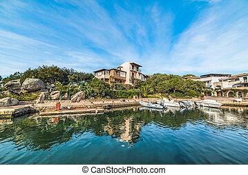 Porto Rotondo under a blue sky, Sardinia