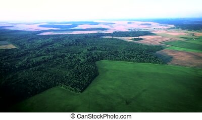 green meadows aerial view - green meadows at summer aerial...