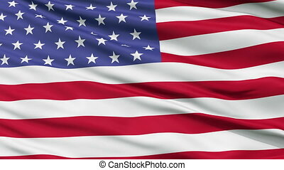 52 Stars USA Close Up Waving Flag