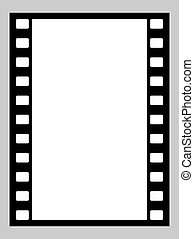 35mm film strip - Illustration of blank 35mm film strip with...