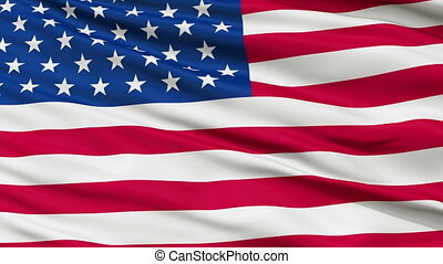 49 Stars USA Close Up Waving Flag - 49 Stars United States...