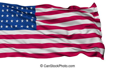 35 Stars USA Isolated Waving Flag - 35 Stars United States...
