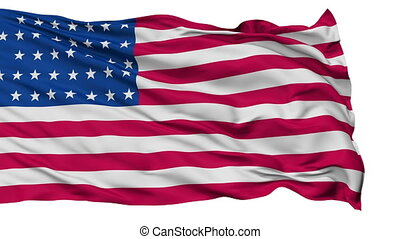 37 Stars USA Isolated Waving Flag - 37 Stars United States...