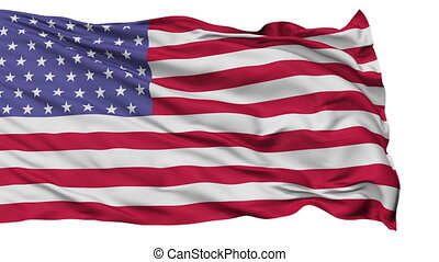 52 Stars USA Isolated Waving Flag - 52 Stars United States...