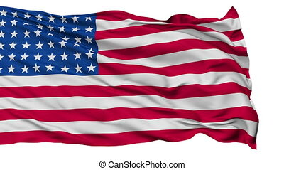 48 Stars USA Isolated Waving Flag - 48 Stars United States...