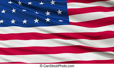 23 Stars USA Close Up Waving Flag - 23 Stars United States...