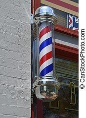 Old Fashion Barber Shop Pole - Barber shop symbol background